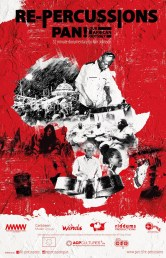 "PAN Africa Poster (27""X42"") red black white A2"