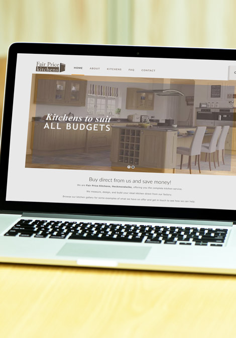 Fair Price Kitchens brand logo web design client