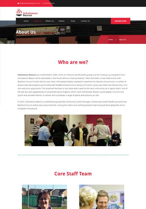 scholemoor beacon web design client