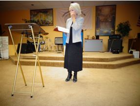 Pastor Alana speaking