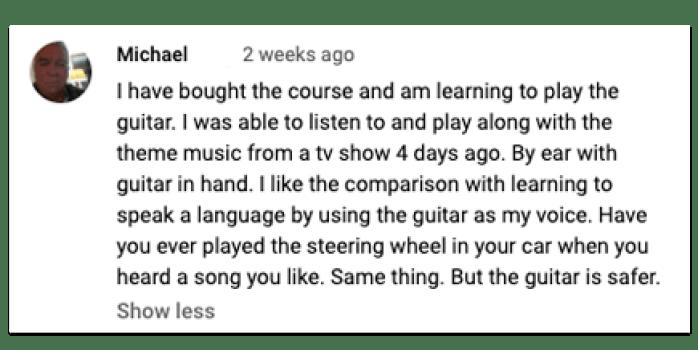 breakthrough guitar review testimonial from facebook