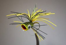 Pultz Bass Popper Chartreuse and Black