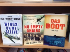 Wings on my sleeve by Captain Eric 'Winkle' Brown, No Empty Chairs by Ian Mackersey, Das Boot by Lothar Gunther Buchheim
