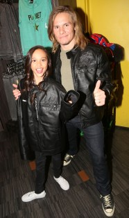 """NEW YORK, NY - MARCH 14: Breanna Yde and Tony Cavalero promote thier New Nickelodeon TV Series (based on the film) """"School Of Rock"""" at Planet Hollywood Times Square on March 14, 2016 in New York City. (Photo by Bruce Glikas/FilmMagic) *** Local Caption *** Breanna Yde; Tony Cavalero"""
