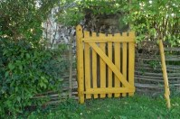 Yellow Healing Garden Gate