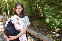 Babywearing and breastfeeding my lil miss while we were visiting the Oregon Zoo. I'm wearing an Onya SSC.
