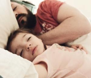 Co–sleeping at it's most precious moment. <3
