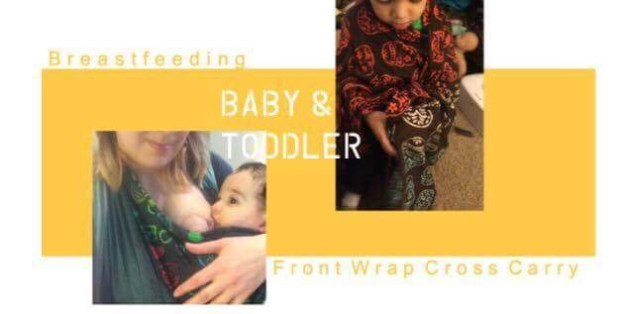 Breastfeeding a baby and toddler ina front wrap cross carry, wrapsody giveaway, samantha reddy, wrapsody brand ambassador, wrapsody hybrid, breastfeeding while babywearing, how to breastfeed in a wrap, giveaway, baby carrier, front wrap cross carry, toddler nursing, nursing baby,
