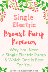 single electric breast pump reviews