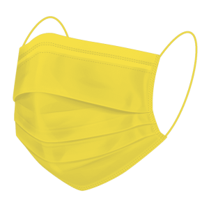 BMP America® Reusable Face Mask - Illuminating Yellow