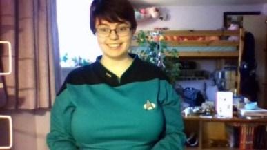 Photo of my in my Star Trek jammies
