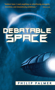 Cover of Debatable Space by Philip Palmer
