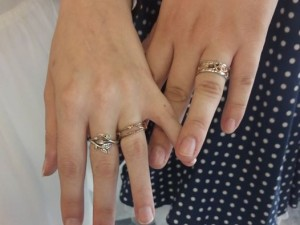 Photo of our wedding rings