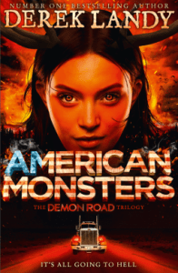 Cover of American Monsters by Derek Landy