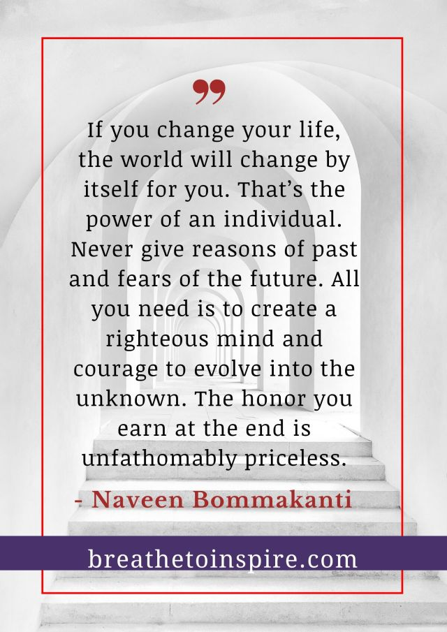honor life quote naveen bommakanti