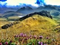 Green mountains, Skye