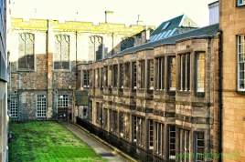 Back of the original Scottish Parliament - from George IV Bridge
