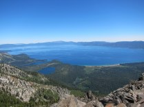 View of Lake Tahoe (and Emerald Bay) from Mt. Tallac summit