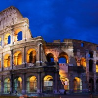 Two beautiful pictures of Colosseum Rome Italy