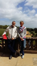 Mike and Caroline at Osbourne House, Queen Victoria's favourite home.