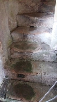 Lacock Abbey, stairs worn away with use