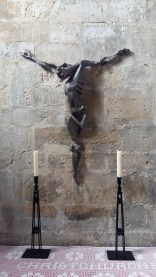 The Broken Christ in the Memorial chapel in Christchurch Priory