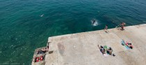 Kids having fun on the Sliema waterfront