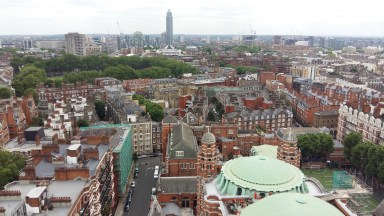 View from the tower at Westminster Cathedral