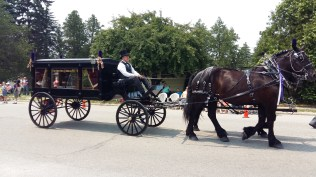 Even the funeral director had was in the parade.