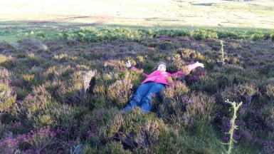 Susan in the heather