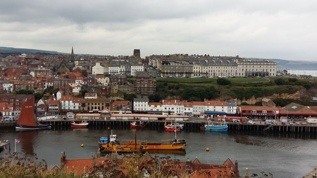 The Abbey can be accessed from Whitby harbour up a flight of steep steps.