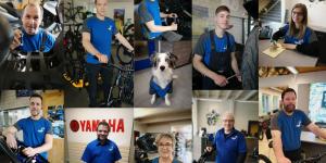Collage mit den Fotos der Team Mitglider der Brechbühl 2-Rad AG