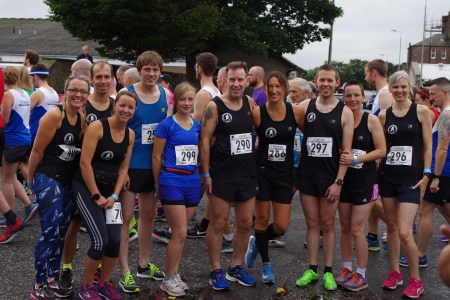 Photo shows 10 of the BRR team ready to take on the Forfar 10k