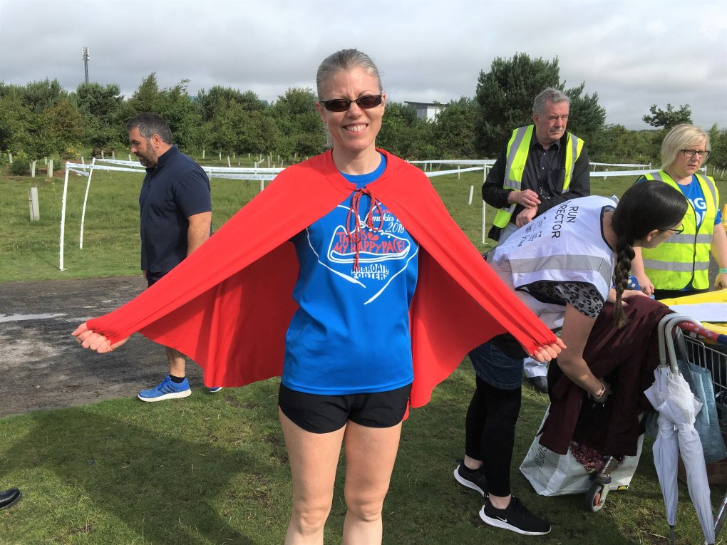 Photo shows Pauline wearing the 50 cape