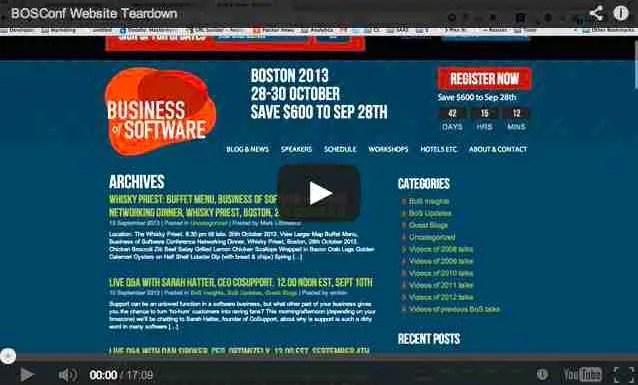 Business of Software Website Teardown