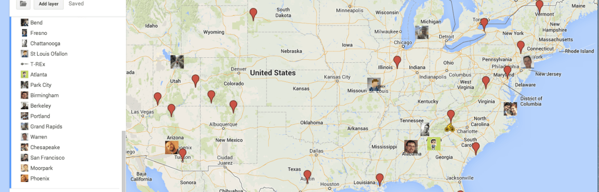 The Nomadic Brood's Roadtrip Planning Map