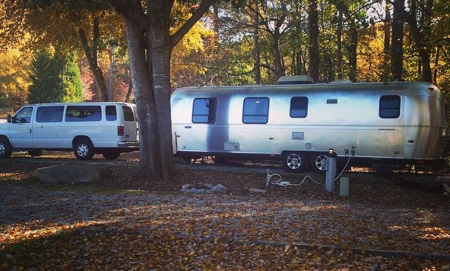 Sometimes when I get a full view of this setup I can't really believe that I'm towing it around the country #airstream #roadtrip