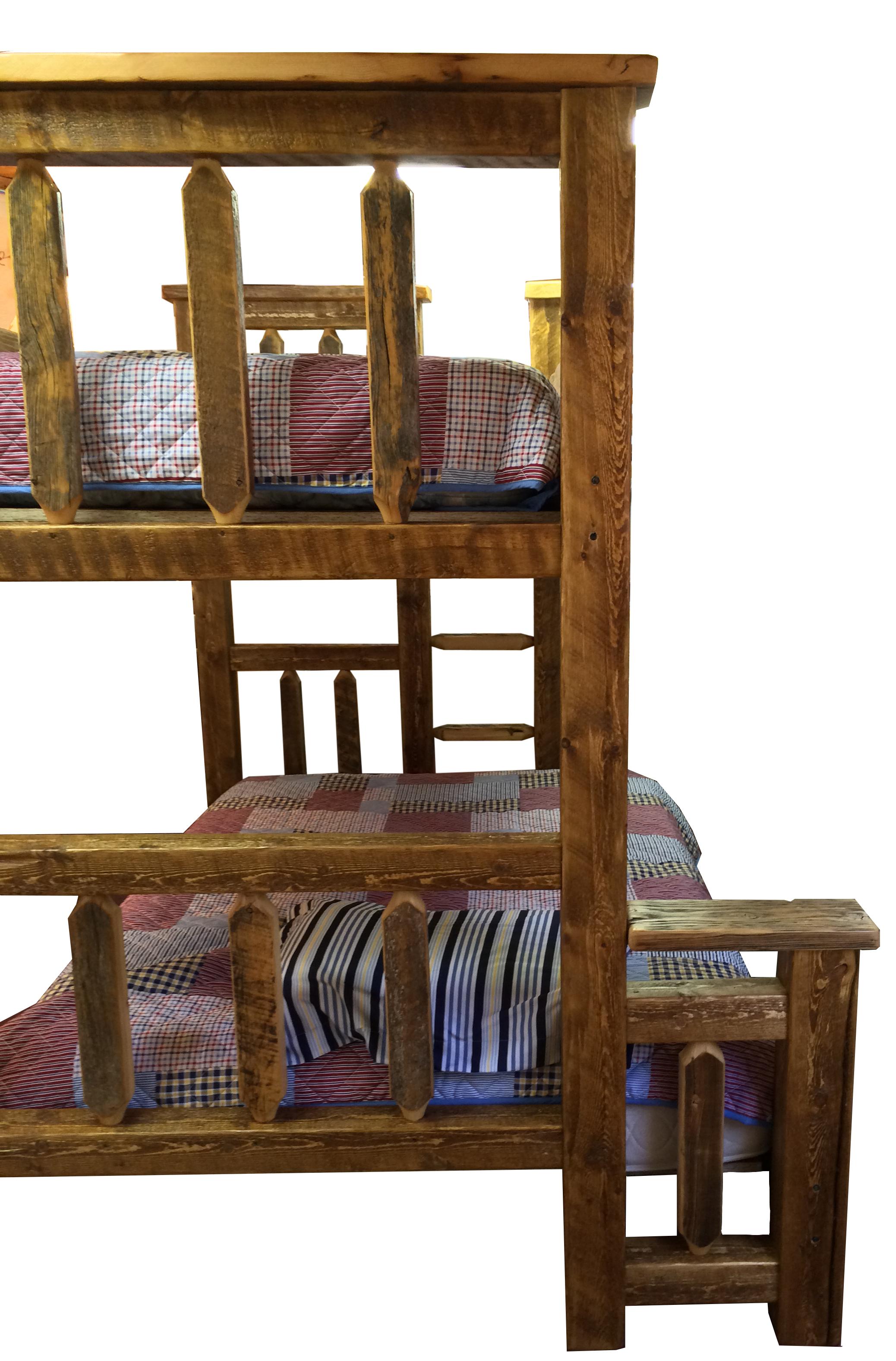 Barn Wood Bunk Bed Rustic Twin Over Twin Breck Bears