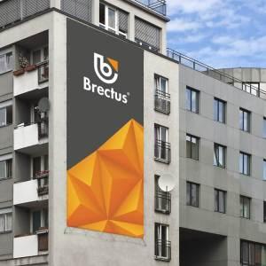 Reklame banner på facade