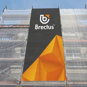 MESH bannere på stilladser fra Brectus