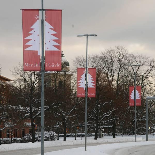 Bannerholder Lygtepæl miljø vinter