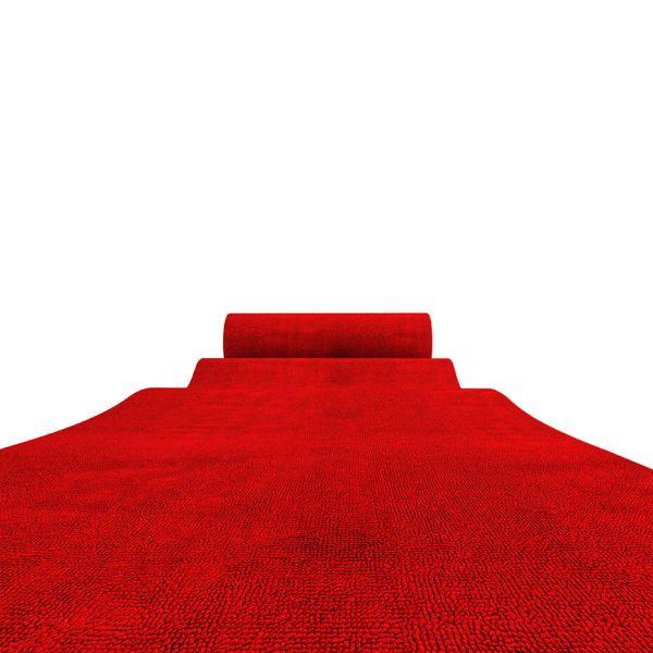 Rød løber på rulle med hvid baggrund