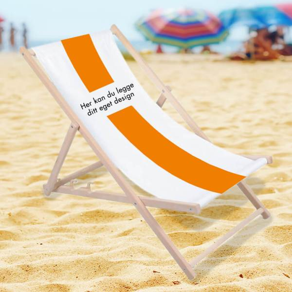 Strandstol på stranden