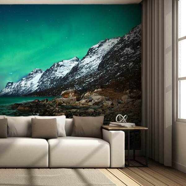 Fototapet af stuen - motiv nordlys