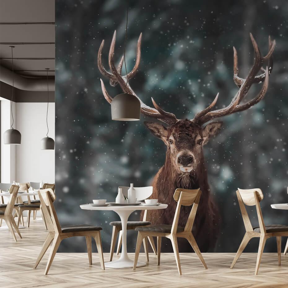 Fototapet til serveringssteder - Motiv rensdyr