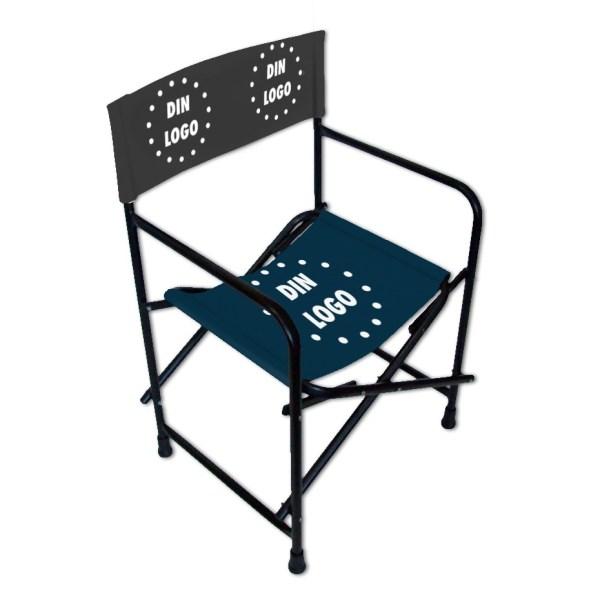 Director's Chair, reklamestol, stol med trykk, stol med logo, sammenleggbar regissørstol, bærbar stol 2