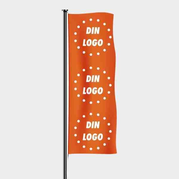 Flagg med logo, Logoflagg, trykte flagg, vaier i vinden, reklameflagg med trykk-2