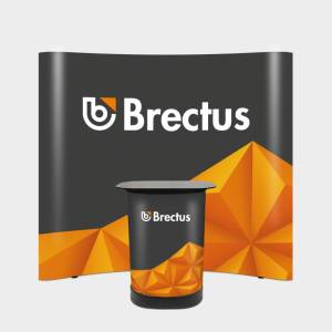 Brectus Pop-up Wall Magnetic Curved
