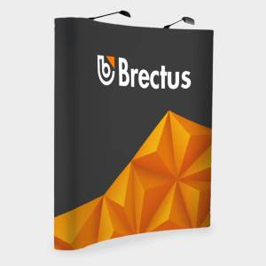 Brectus Pop-Up Wall Curved