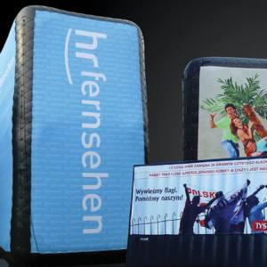 Oppblåsbare Airboards, Oppblåsbare bannere, Oppblåsbar vegg, oppblåsbare produkter, oppblåsbar reklame, Luftvegg, reklamekampanjer, reklamevegg